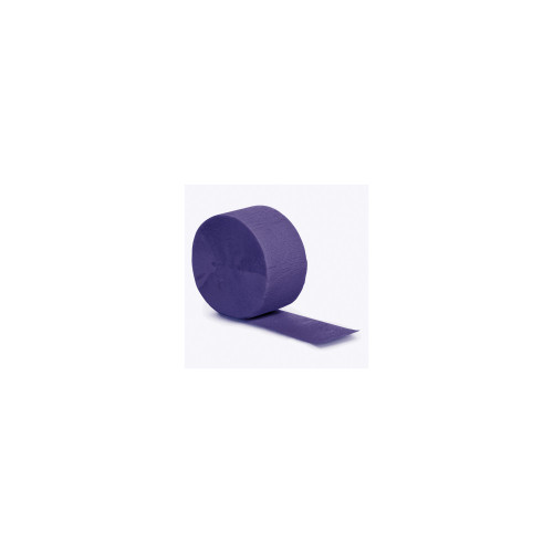 Club Pack of 24 Purple Crepe Party Streamers 81' - IMAGE 1