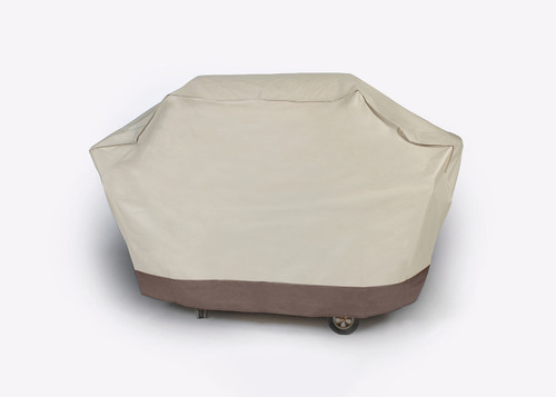 Embossed Durable Outdoor Patio Full Premium Gas Grill Cover - Taupe - IMAGE 1