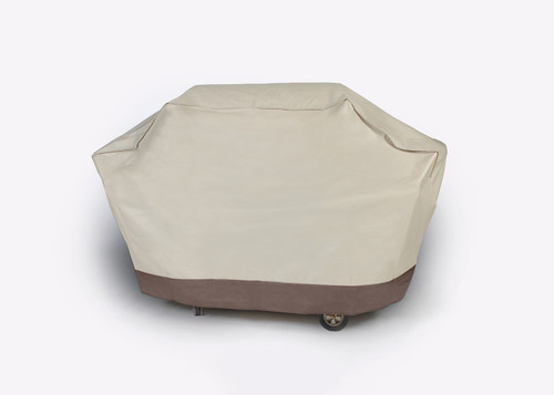 Durable Full Outdoor Patio Premium Embossed Gas Grill Cover - Taupe - IMAGE 1