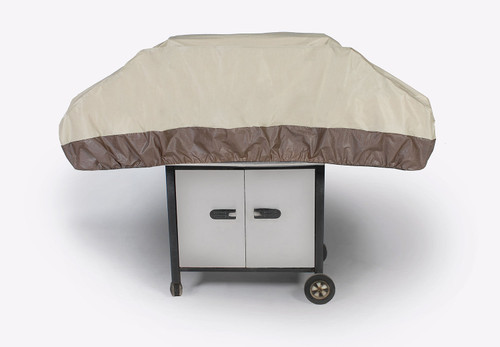 Durable Outdoor Patio Premium Gas Grill Cover with Elastic Bottom - Taupe - IMAGE 1