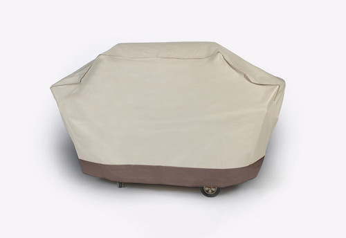 Durable Outdoor Patio Full Embossed Vinyl Premium Gas Grill Cover - Taupe - IMAGE 1
