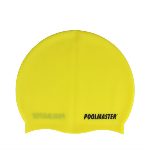 """8.5"""" Yellow Unisex Adult Swim Cap for Swimming Pools and Spas - IMAGE 1"""
