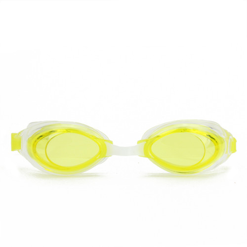 """6.5"""" Lime Yellow Vantage Competition Adjustable Swimming Pool Goggles - IMAGE 1"""