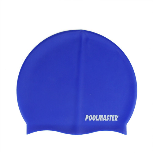 "8.5"" Blue Swim Cap for Swimming Pools and Spas for Teens and Adults - IMAGE 1"