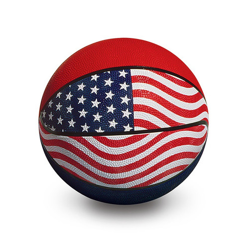 """9"""" Red, White and Blue Official USA/WBA Competition Basketball - IMAGE 1"""