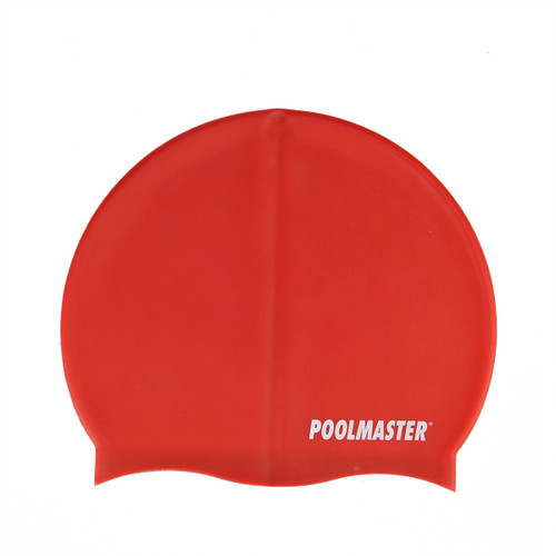 """8.5"""" Red Solid Swim Cap for Swimming Pools and Spas for Teens and Adults - IMAGE 1"""