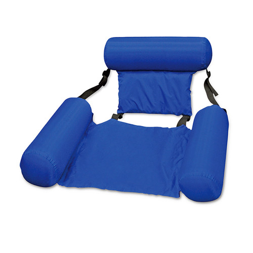 Blue Inflatable Floating Swimming Pool Lounge Chair, 37-Inch - IMAGE 1