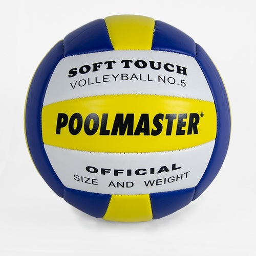 """8"""" Blue and Yellow Sports Ball Soft Touch Volleyball Swimming Pool Accessory - IMAGE 1"""