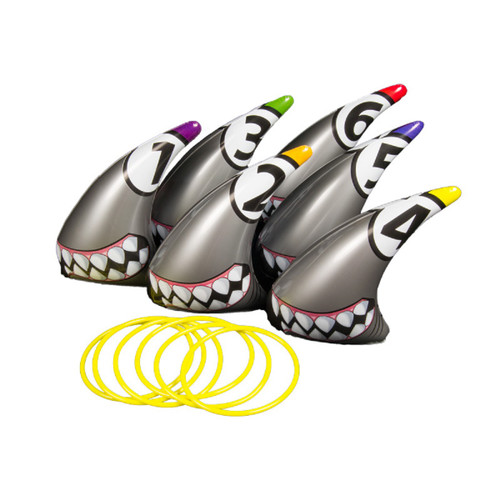 """Set of 6 Silver Ring Toss Swimming Pool and Backyard Game 11"""" - IMAGE 1"""