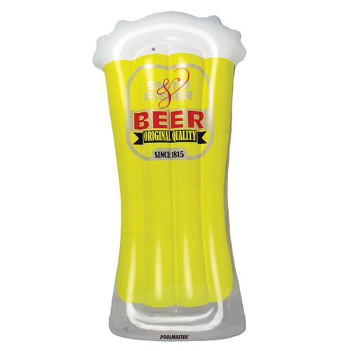 """72"""" O' Beer Inflatable Yellow and white Swimming Pool Mattress - IMAGE 1"""
