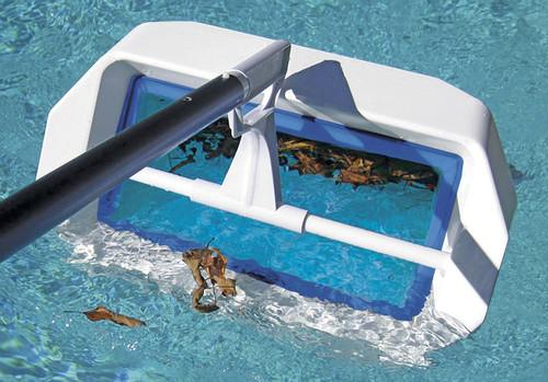 "20"" Blue and White Swivel Skim Elite Swimming Pool Bi-Directional Skimmer - IMAGE 1"
