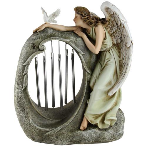 "10.75"" Joseph's Studio Angel with Chimes Religious Outdoor Garden Statue - IMAGE 1"