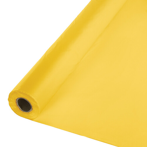 Pack of 6 Yellow Disposable Banquet Party Table Cover Rolls 100' - IMAGE 1