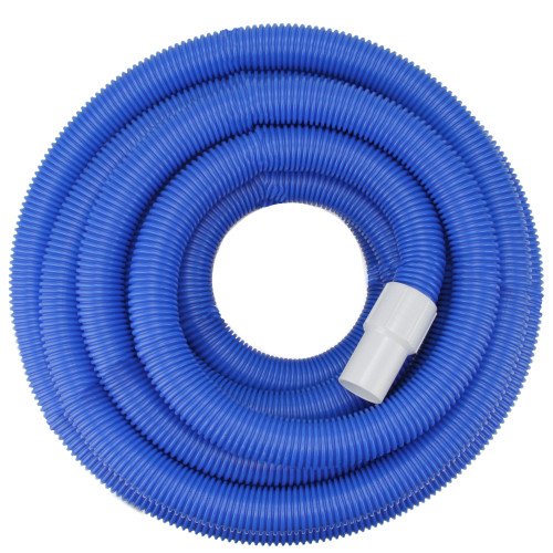 """Blue Blow-Molded PE In-Ground Swimming Pool Vacuum Hose with Swivel Cuff 25' x 1.5"""" - IMAGE 1"""