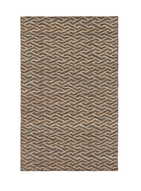 2' x 3' Sea Lion Brown and Maple Brown Hand Tufted Rectangular Area Throw Rug - IMAGE 1