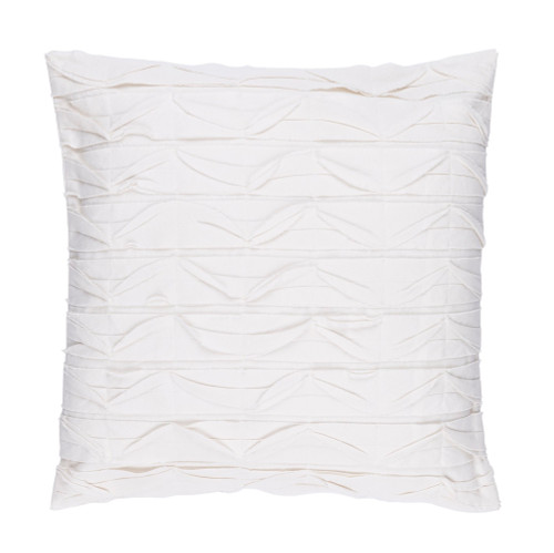 "20"" Alabaster White Textured Decorative Throw Pillow - Down Filler - IMAGE 1"