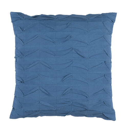"20"" Marlin Blue Textured Decorative Throw Pillow - Down Filler - IMAGE 1"