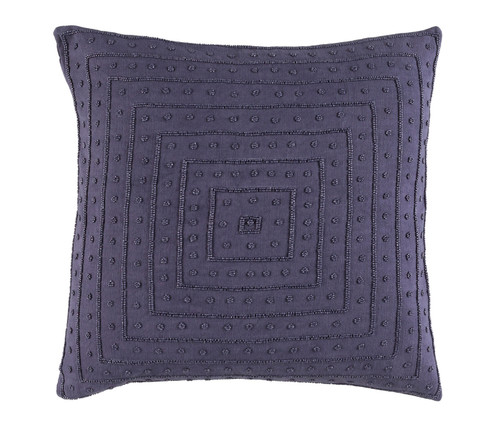 """18"""" Wine Purple Contemporary Woven Square Throw Pillow - Down Filler - IMAGE 1"""