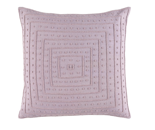 "22"" Lavender Contemporary Woven Square Throw Pillow - Down Filler - IMAGE 1"