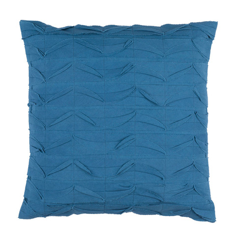 "22"" Marlin Blue Textured Decorative Throw Pillow - Polyester Filler - IMAGE 1"