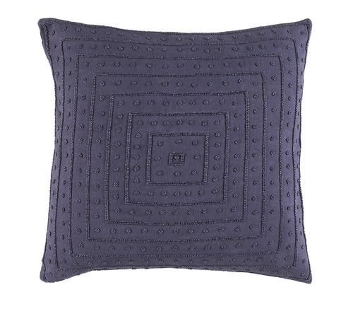 "22"" Wine Purple Contemporary Woven Square Throw Pillow - IMAGE 1"