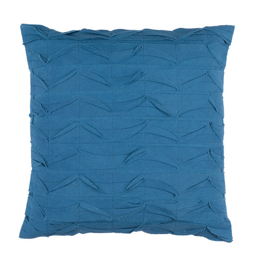 "20"" Marlin Blue Textured Decorative Throw Pillow - Polyester Filler - IMAGE 1"
