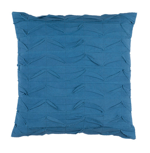 "18"" Marlin Blue Textured Decorative Throw Pillow - Down Filler - IMAGE 1"