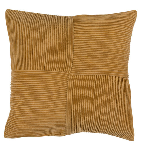 """22"""" Brown Contemporary Basket Weave Square Throw Pillow - Down Filler - IMAGE 1"""
