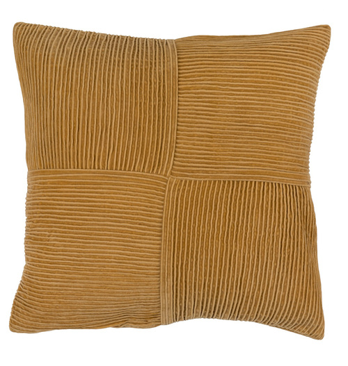 """20"""" Brown Contemporary Basket Weave Square Throw Pillow - Down Filler - IMAGE 1"""