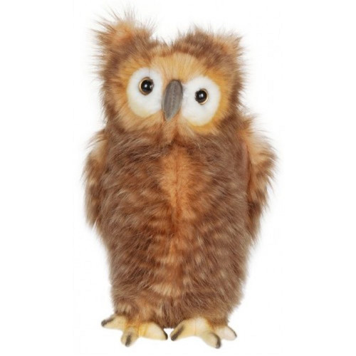 """Pack of 3 Brown and White Handcrafted Owl Youth Stuffed Animals 9.5"""" - IMAGE 1"""