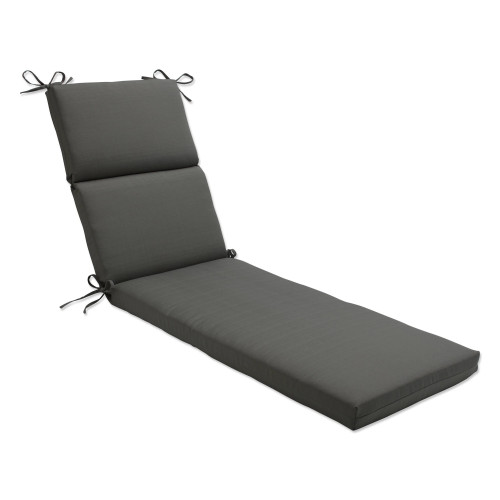 """72.5"""" Solarium Brown Solid Outdoor Patio Chaise Lounge Cushion - IMAGE 1"""