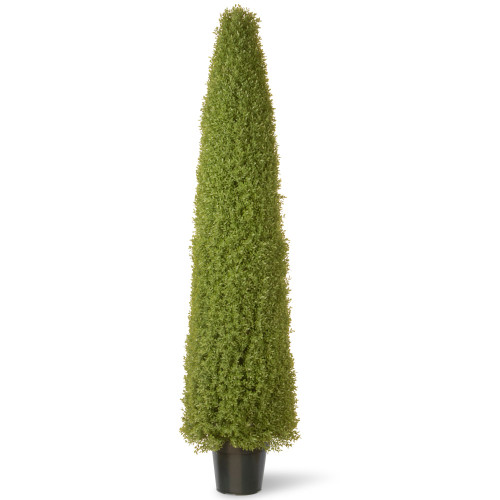"""72"""" Tall Artificial Green Boxwood Topiary Tree with Round Pot - IMAGE 1"""