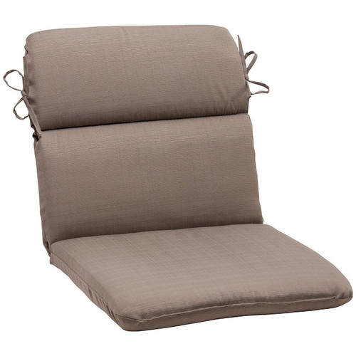 """40.5"""" Solarium Brown Solid Outdoor Patio Rounded Chair Cushion - IMAGE 1"""
