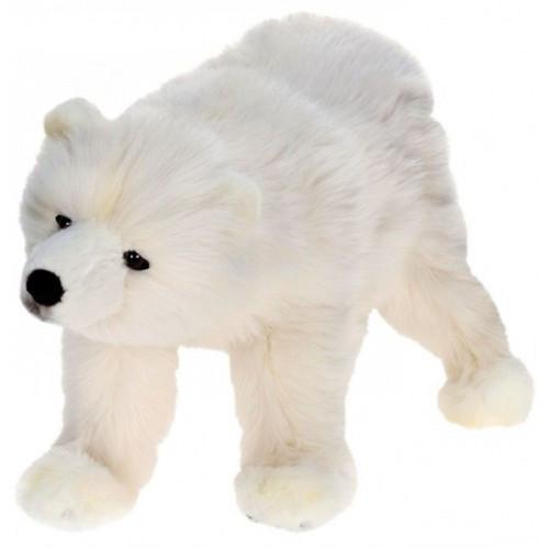 "Set of 2 White Handcrafted Soft Plush Polar Bear Cub Stuffed Animals 18.5"" - IMAGE 1"