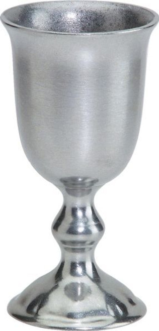 """Pack of 2 English Hand Crafted Statesmetal 8 Ounce Drinking Goblet 6"""" - IMAGE 1"""