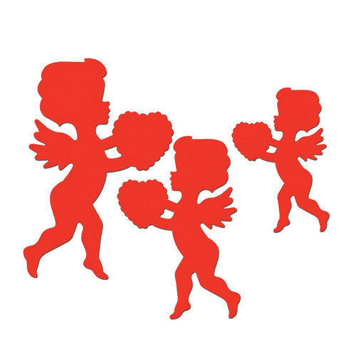 """Club Pack of 144 Red Cupid Cutout Valentine Decorations 13"""" - IMAGE 1"""