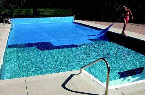 16' x 32' Blue Rectangular Heat Wave Solar Blanket Swimming Pool Cover - IMAGE 1