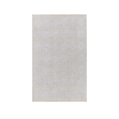 9.25' x 13.25' Perpetual Leitmotif White and Gray Hand Woven Area Throw Rug - IMAGE 1
