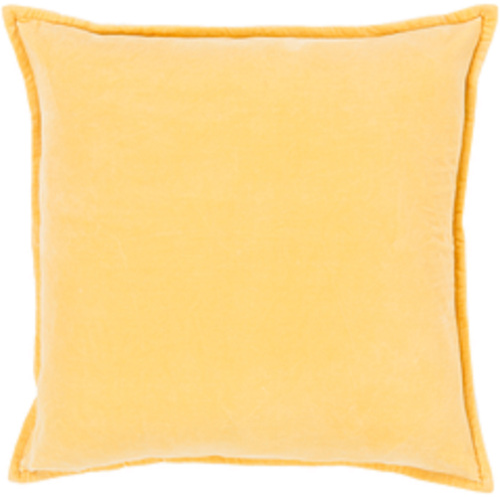"20"" Calma Semplicita Golden Yellow Decorative Square Throw Pillow - IMAGE 1"
