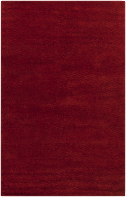 2' x 3' Solid Venetian Red Hand Woven New Zealand Wool Area Throw Rug - IMAGE 1