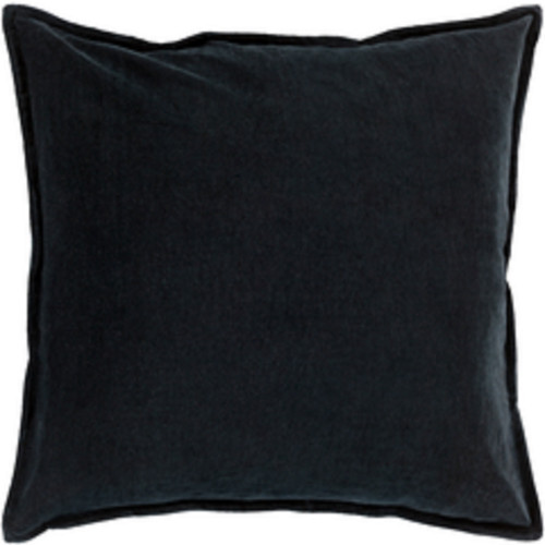 """22"""" Charcoal Black Contemporary Woven Decorative Throw Pillow - Poly Filled - IMAGE 1"""