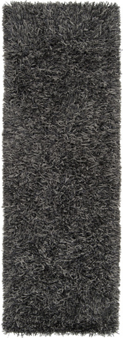 2.5' x 8' Gray Hand Woven Area Throw Rug Runner - IMAGE 1