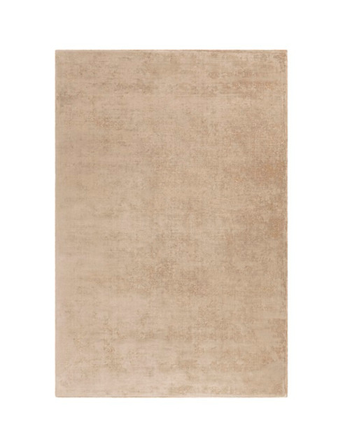 8' x 10' Solid Brown Hand Loomed Area Throw Rug - IMAGE 1