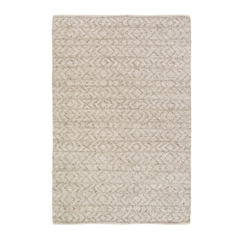 5' x 7.5' Contemporary Beige and Pastel Gray Hand Woven Area Throw Rug - IMAGE 1