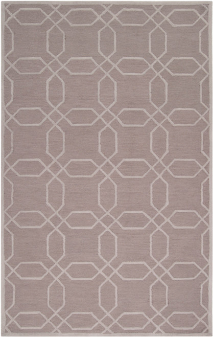 3.5' x 5.5' Gray and Beige Hand Woven Area Throw Rug - IMAGE 1