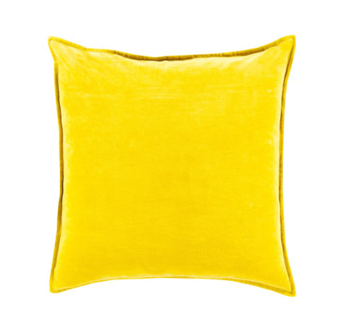 "22"" Chastity's Blush of Pureness Lemon Glacier Yellow Decorative Throw Pillow - Down Filler - IMAGE 1"