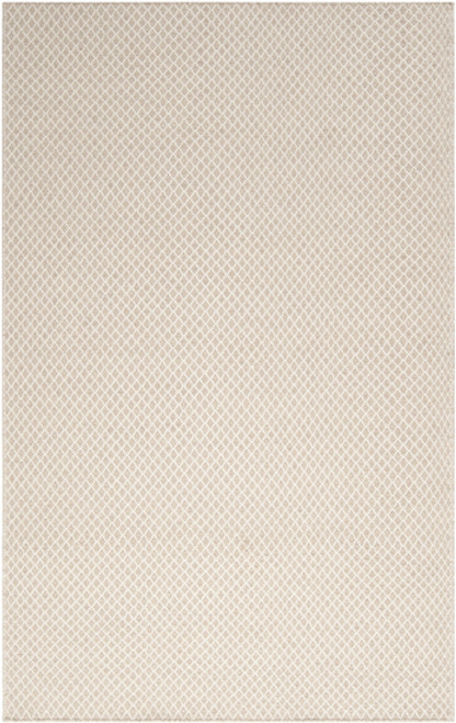 2' x 3' Neutral Simplicity Ivory and Beige Hand Woven Wool Area Throw Rug - IMAGE 1