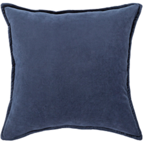 """22"""" Muted Dark Blue Contemporary Woven Decorative Throw Pillow - IMAGE 1"""