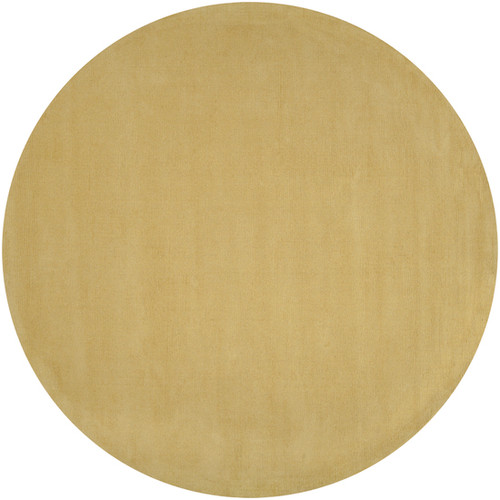 6' Sandcastle Beige Solid Hand Loomed Round Area Throw Rug - IMAGE 1