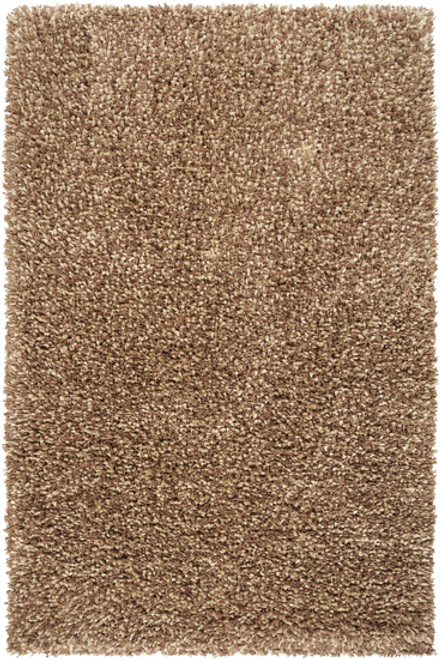 2' x 3' Cashmere Plush Brown and Beige Hand Woven Rectangular New Zealand Wool Area Throw Rug - IMAGE 1